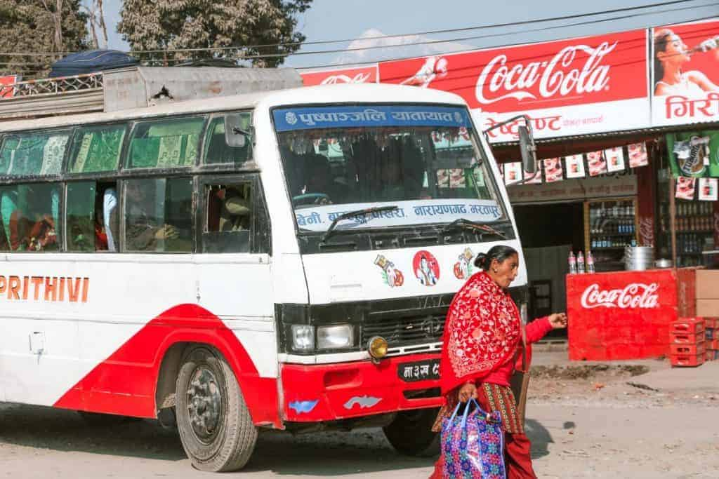 One amazing facts about Nepal is that cars do not stop on the stop sign