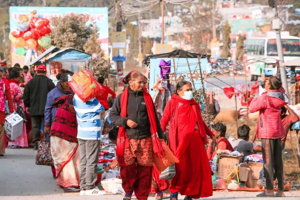 Fun fact about Nepal is that the women wear red color