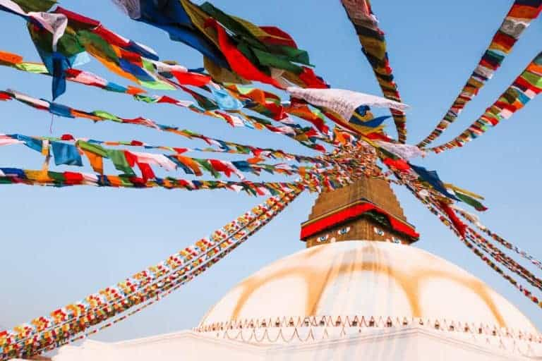 The prayer flags are an amazing fact about Nepal culture