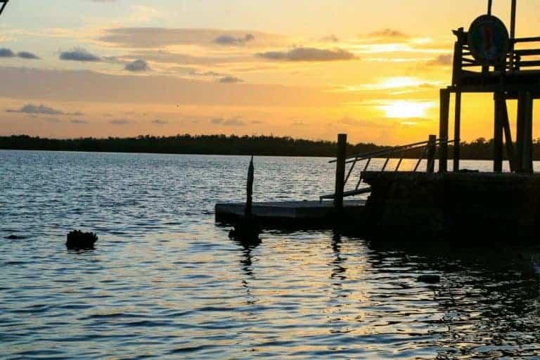 Ten Thousand Islands sunset in Florida USA