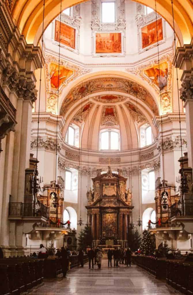 Salzburg Cathedral at Christmas time