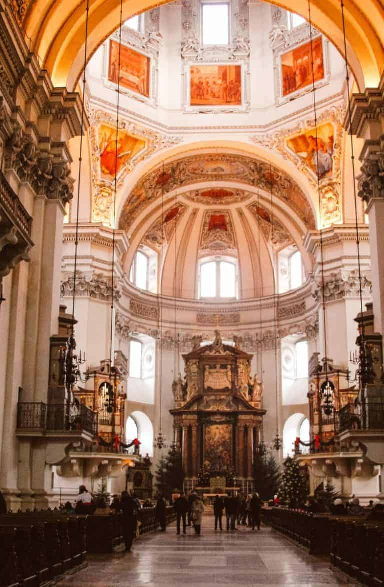 Salzburg Cathedral at Christmas time