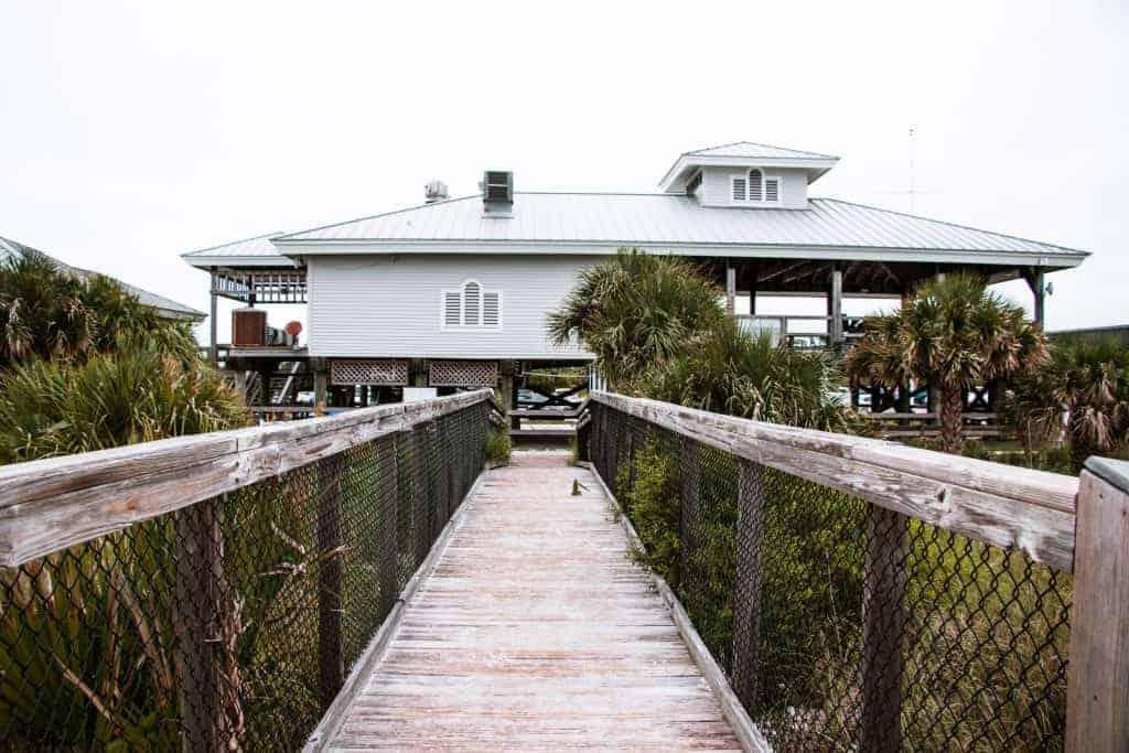 Restaurants at Honeymoon Island Caladesi Island State Park in Florida