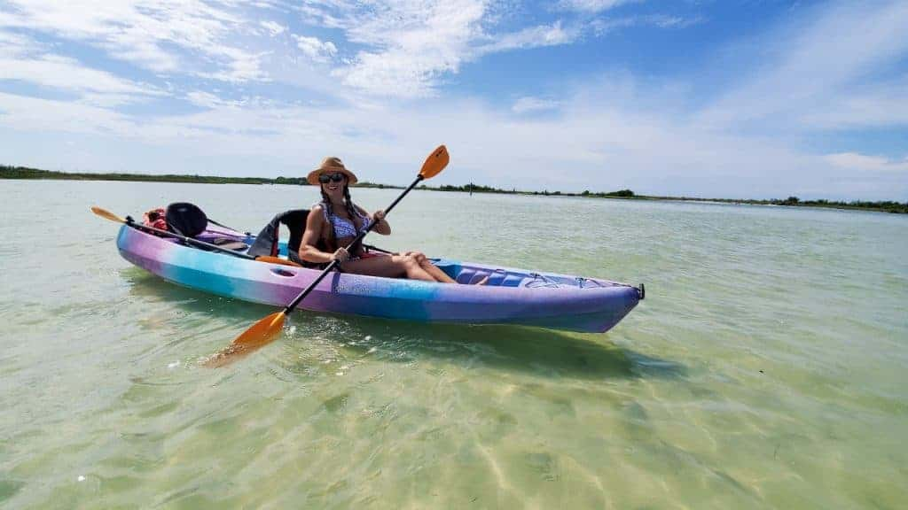 Kayaking at the Honeymoon Island Caladesi Island State Park in Florida