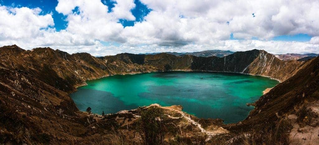 Backpacking South America Laguna quilotoa