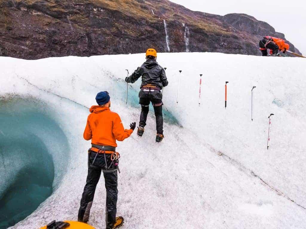 Ice caving Iceland