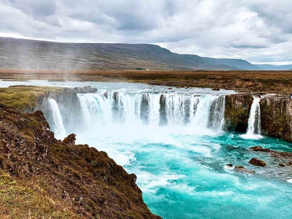 Godafoss waterfall is one of the must visit Iceland attractions on the Ring Road route