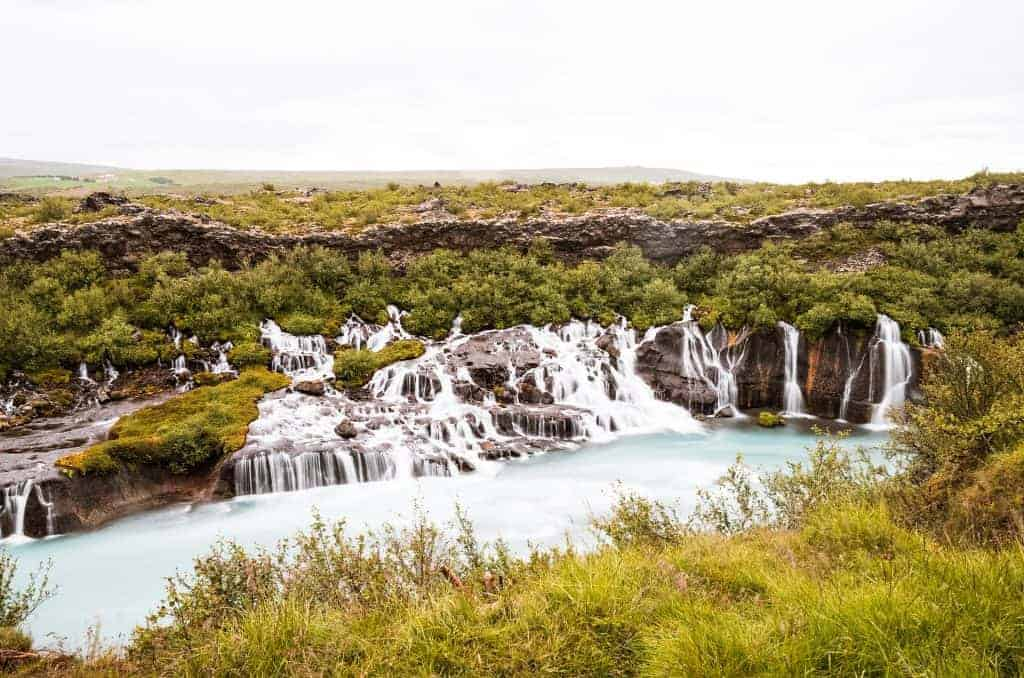 Hraunfossar is one of the hidden gems iceland attractions
