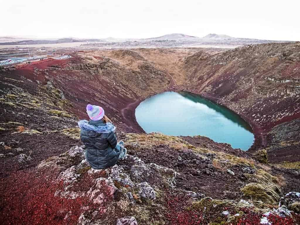 Kerið Crater is one of the most beautiful Iceland Landmarks