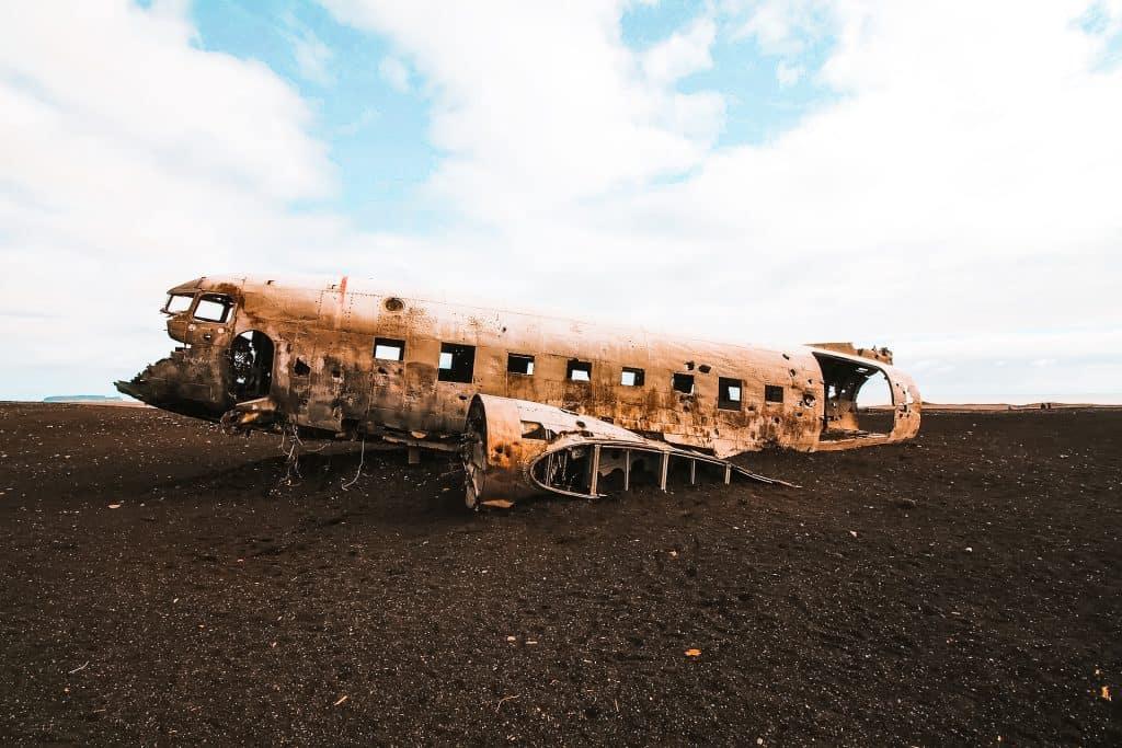 The plane crash is such a unique Iceland Landmark