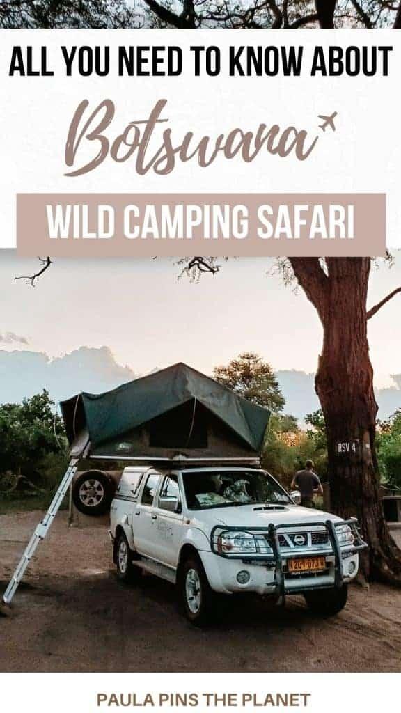 Camping safari in Botswana