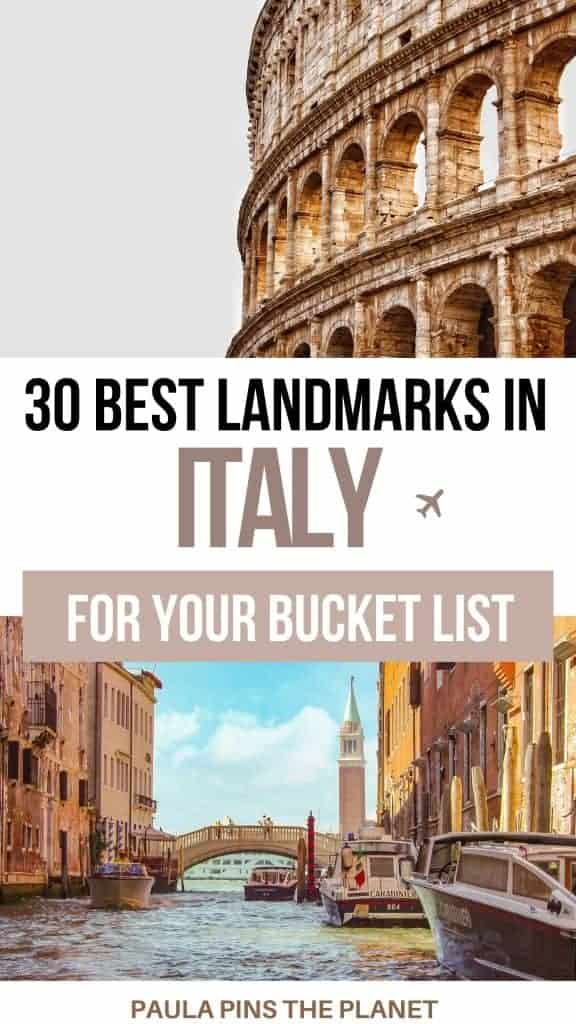 Italian landmarks Pinterest