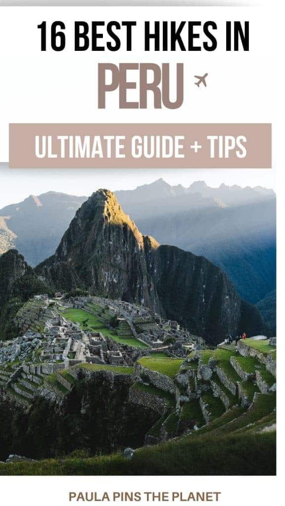 Best Peru hikes pinterest