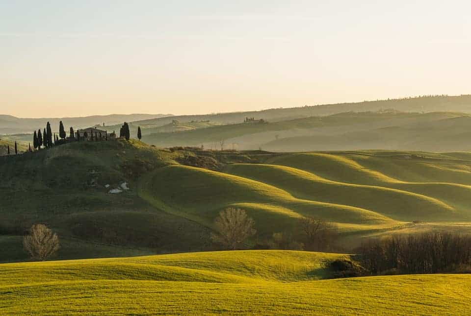 from Rome to Tuscany and enjoy the landscape