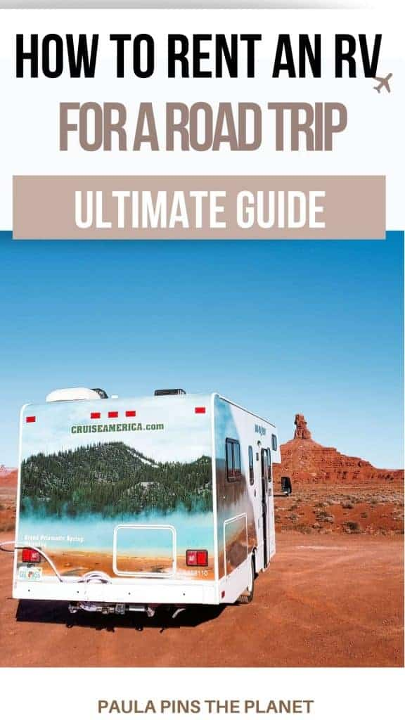 Renting and RV for a road trip Pinterest