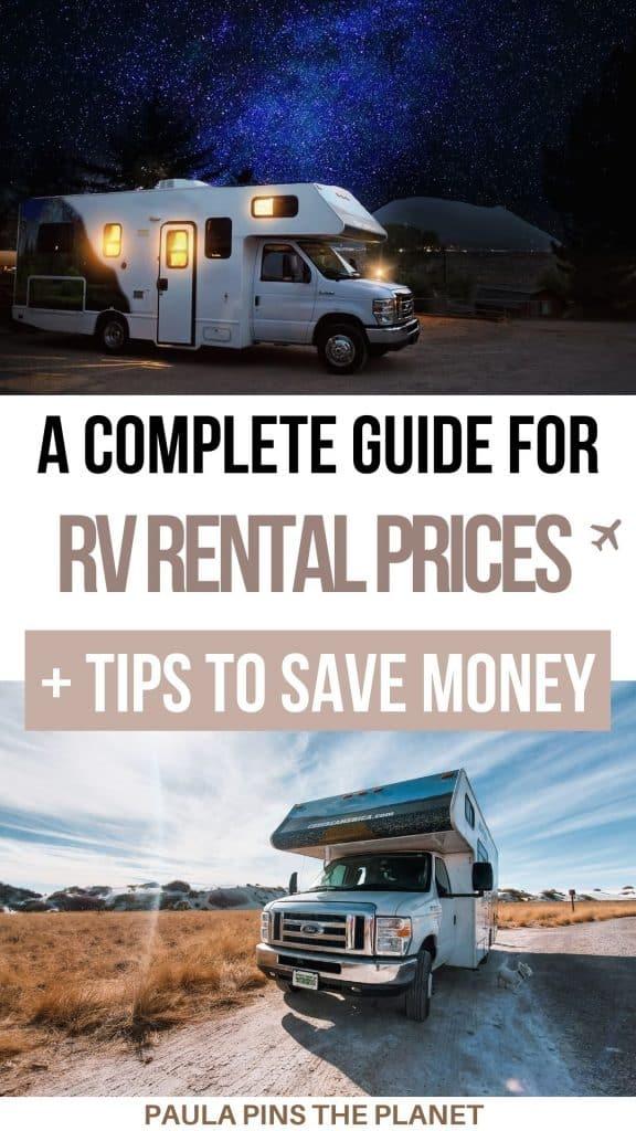 RV rental prices
