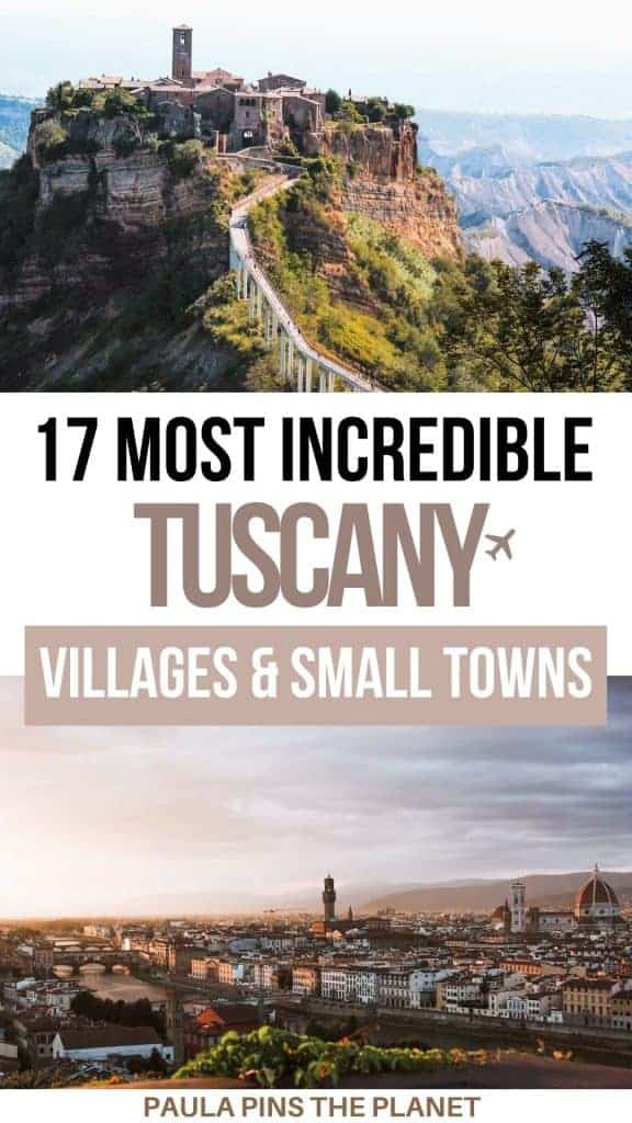 Tuscany Villages and small towns Pinterest
