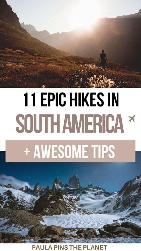 South America Hikes pinterest